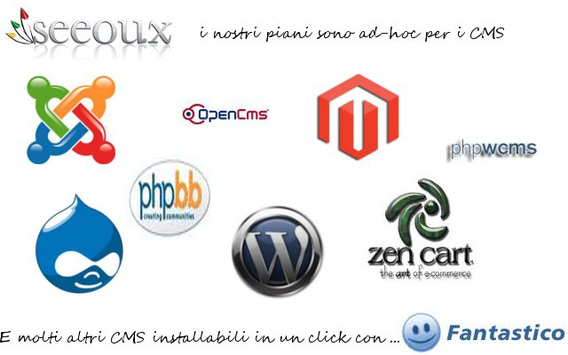 """Seeoux e i CMS: Joomla, WordPress, Drupal, PhPwcms"""