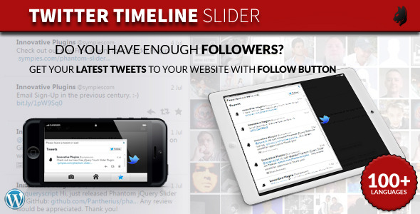 twitter slider wordpress
